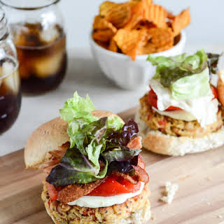 Roasted Red Pepper Quinoa Burgers.