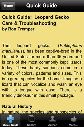 LEOPARD GECKO CARE - screenshot