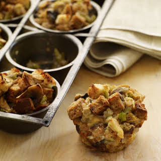 Buttermilk and Herb Stuffing Muffins.
