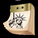 American tear-off calendar icon