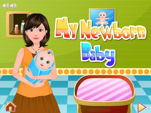 新生兒出生女孩的遊戲