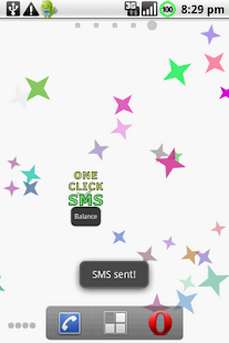 One Click SMS Demo - screenshot thumbnail