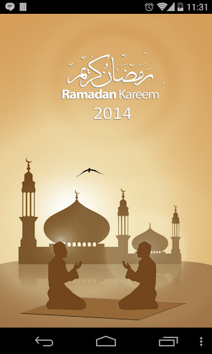Ramadan 2014 Times Calendar