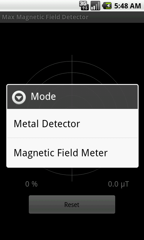 Max Magnetic Field Detector - screenshot
