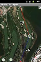 Screenshot of nRange Golf GPS rangefinder
