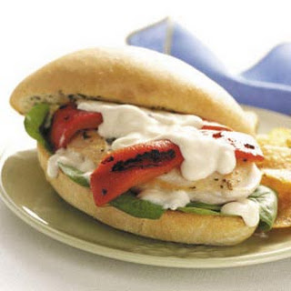 Chicken Alfredo Sandwiches