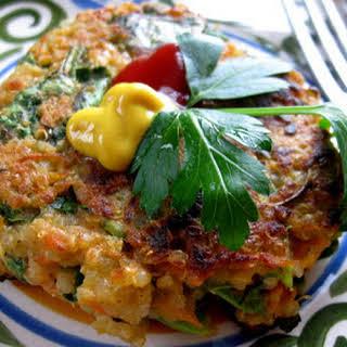 Spinach Quinoa Socca Cakes Recipe (vegan).