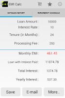 Screenshot of Loan EMI Calculator