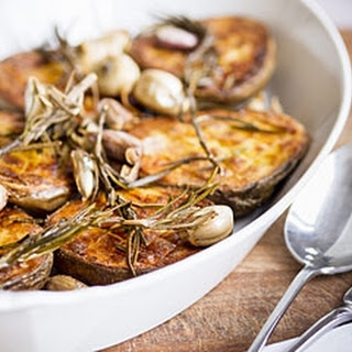 Roast Potatoes with Garlic and Onions Recipe