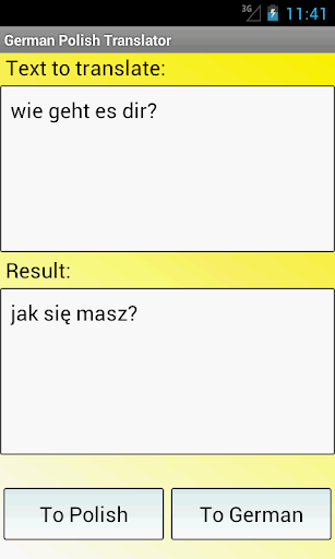 ドイツ語ポーランド翻訳