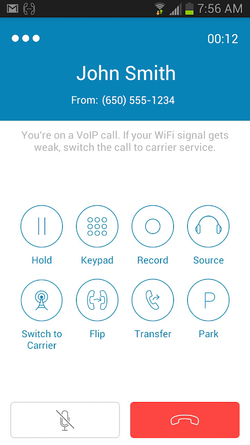 RingCentral Office@Hand - screenshot