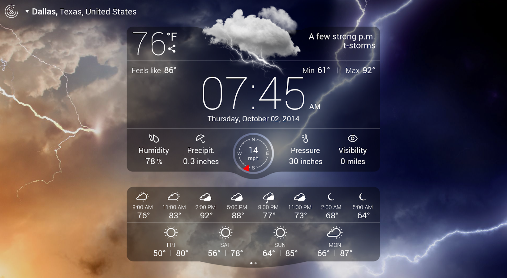 Weather Live with Widgets Free - screenshot