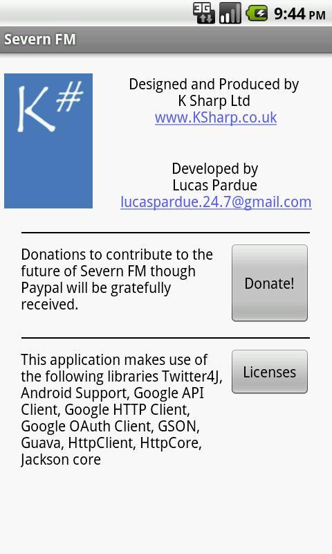 Severn FM- screenshot