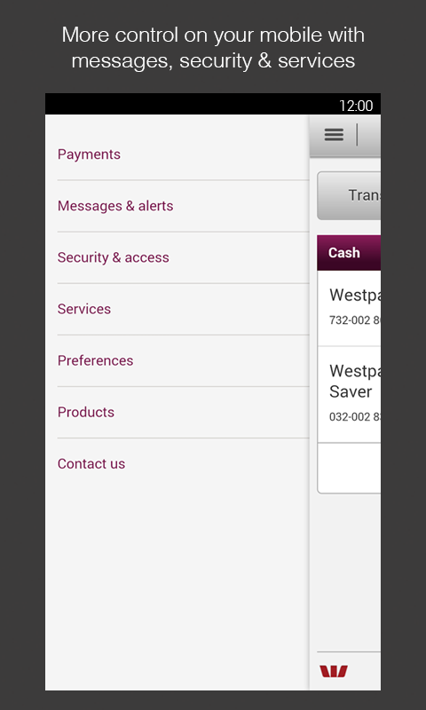 Westpac Mobile Banking - screenshot