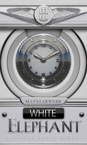 Clock Widget White Elephant
