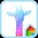 rainbow giraffe dodol theme icon