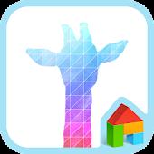 rainbow giraffe dodol theme