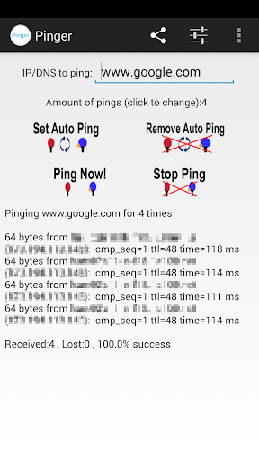 Pinger - send network pings