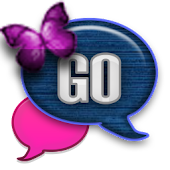 GO SMS - Amazing Butterfly Sky