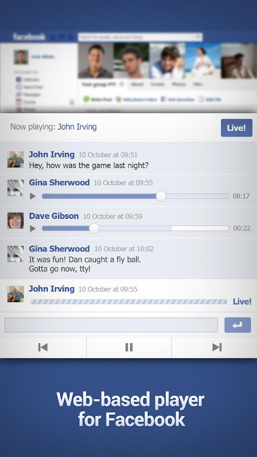 GroupVox - PTT for Facebook - screenshot