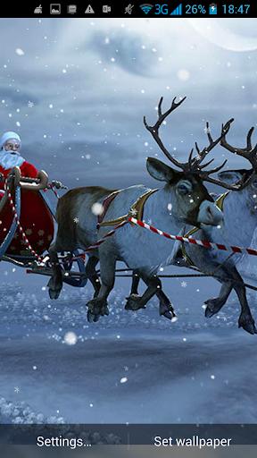 3D聖誕老人動態壁紙