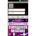 GO Keyboard Pink Flame theme logo