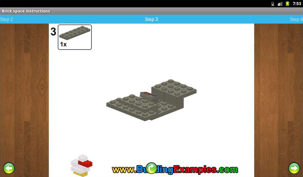 Brick space instructions- screenshot