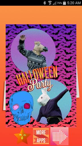 Hipster Halloween Photo Frames