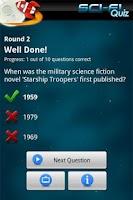 Screenshot of Ultimate Sci-Fi Quiz