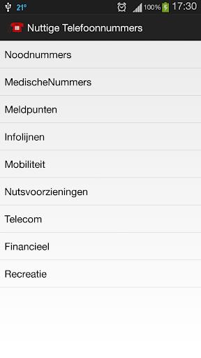 Nuttige Telefoonnummers