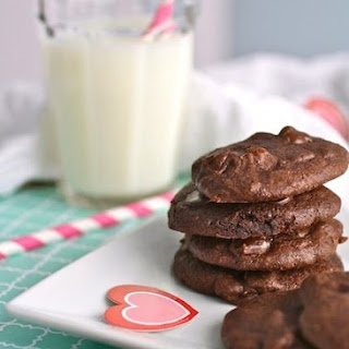 Dark Chocolate Brownie Drop Cookies