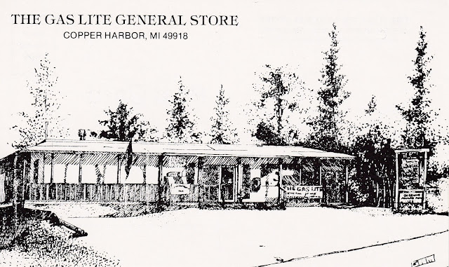 Post card illustration of the store.
