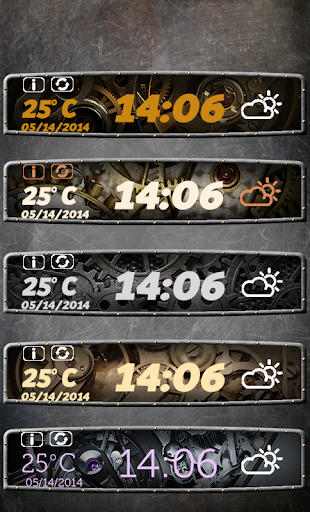 蒸汽朋克时钟和天气小工具