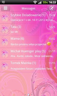 GO SMS Pro Cute Pink - screenshot thumbnail