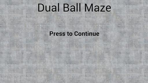 Dual Ball Maze