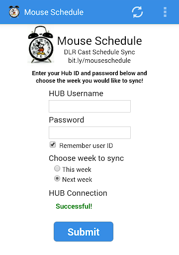 Mouse Schedule