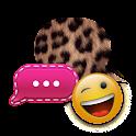 Cheetah Pink GO SMS Theme logo