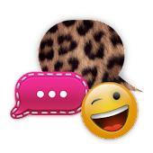Cheetah Pink GO SMS Theme