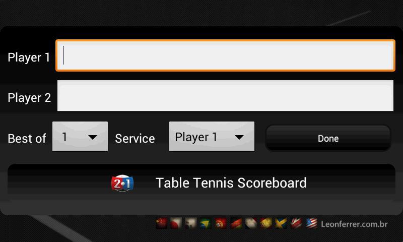 Table Tennis Scoreboard- screenshot
