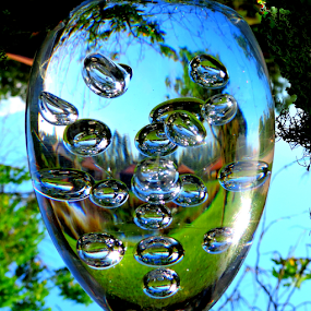 Giant Bubble... by Elfie Back - Artistic Objects Glass ( champagne glasses )