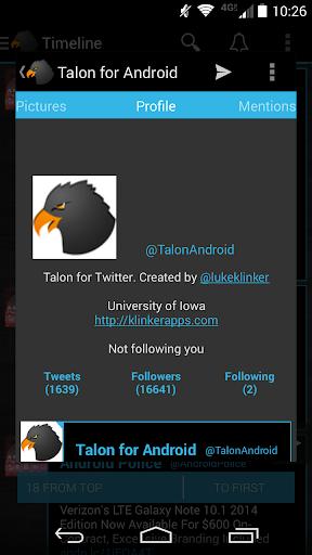 Talon - Holo Blue Black Theme