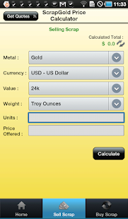 Scrap Gold Price Calculator - screenshot thumbnail
