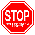 Stop. Collaborate and Listen logo