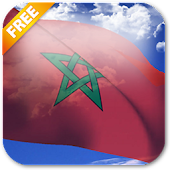 3D Morocco Flag Live Wallpaper