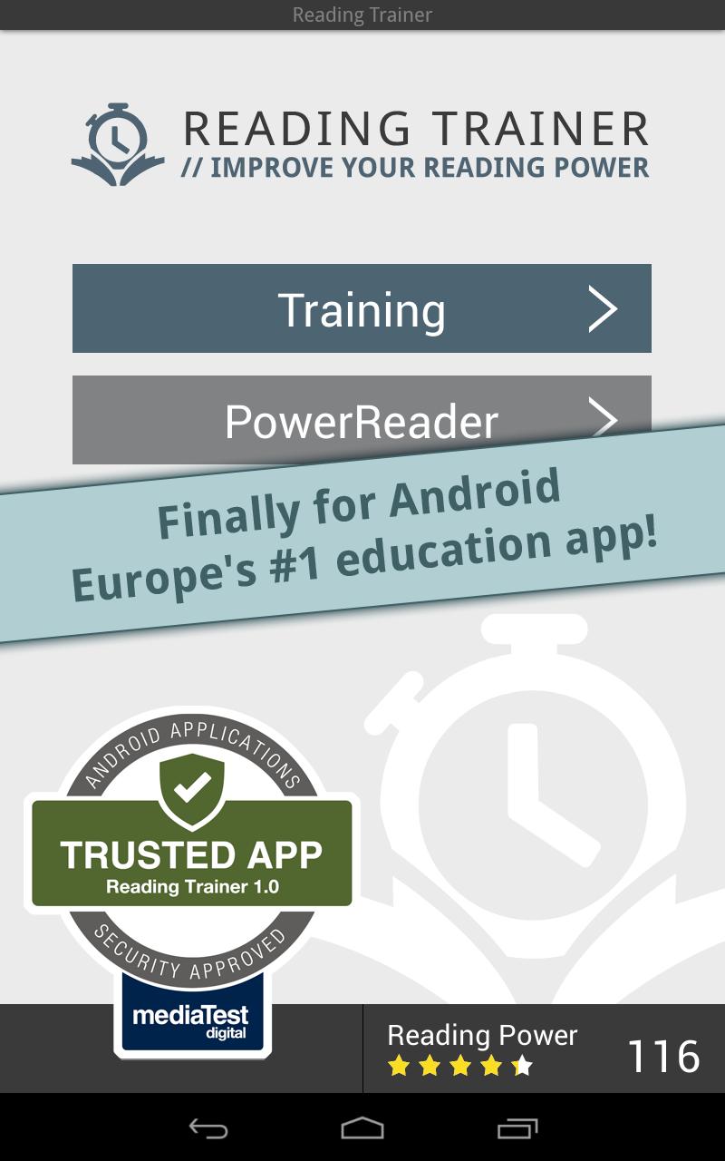 Reading Trainer screenshot #7