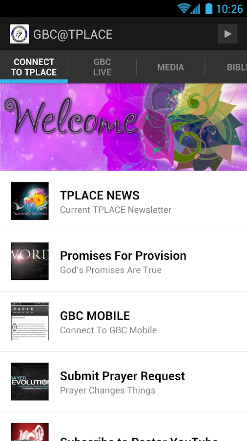GBC TPLACE - screenshot