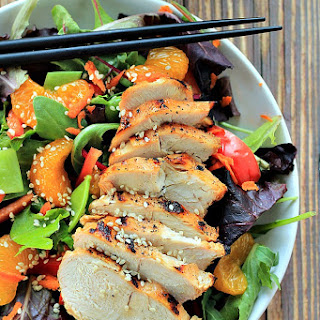 Asian Chicken Salad with Sesame Ginger Dressing.