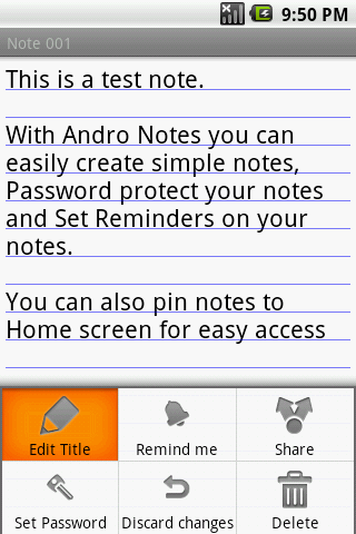 Andro Notes- screenshot