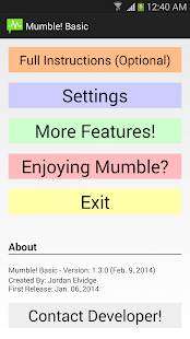 Mumble! Basic - Smart Alerts - screenshot thumbnail