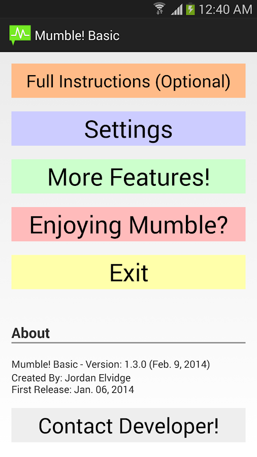 Mumble! Basic - Smart Alerts - screenshot